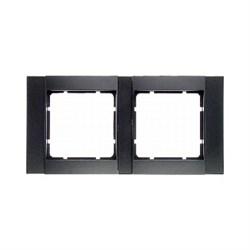 Рамка 2-поста горизонтальная, Berker B.1 цвет: антрацит, матовый 10221606 - фото 3687