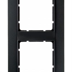 Рамка 2-поста вертикальная, Berker B.1 цвет: антрацит, матовый 10121606 - фото 3688
