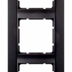 Рамка 3-поста вертикальная, Berker B.1 цвет: антрацит, матовый 10131606 - фото 3690