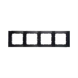 Рамка 4-поста горизонтальная, Berker B.1 цвет: антрацит, матовый 10241606 - фото 3691