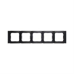 Рамка 5-постов горизонтальная, Berker B.1 цвет: антрацит, матовый 10251606 - фото 3693