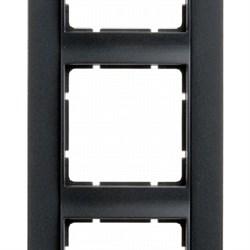 Рамка 5-постов вертикальная, Berker B.1 цвет: антрацит, матовый 10151606 - фото 3694