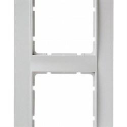 Рамка 2-поста вертикальная, Berker B.1 цвет: Белый , матовый 10121909 - фото 3697