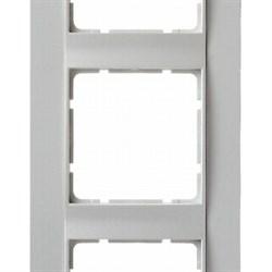 Рамка 3-поста вертикальная, Berker B.1 цвет: Белый , матовый 10131909 - фото 3699