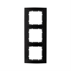 Рамкa 3-поста, Berker B.3, Материал: алюминий цвет: Чёрный/антрацитовый 10133005 - фото 3735