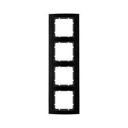 Рамкa 4-поста, Berker B.3, Материал: алюминий цвет: Чёрный/антрацитовый 10143005 - фото 3736