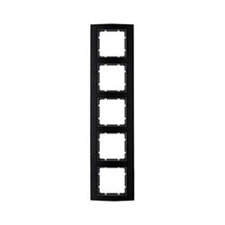 Рамкa 5-постов, Berker B.3, Материал: алюминий цвет: Чёрный/антрацитовый 10153005 - фото 3737