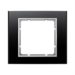 Рамкa 1-пост, Berker B.3, Материал: алюминий цвет: Чёрный/полярная белизна 10113025 10113025 - фото 3738