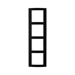 Рамкa 4-поста, Berker B.3, Материал: алюминий цвет: Чёрный/полярная белизна 10143025 - фото 3741