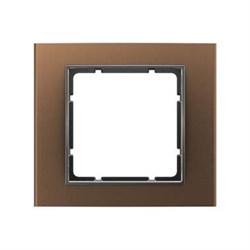 Рамкa одинарная B.3, алюминевая, коричневый/антрацит 10113001 - фото 3743