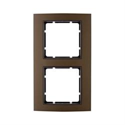 Рамкa двойная B.3, алюминевая, коричневый/антрацит 10123001 - фото 3744