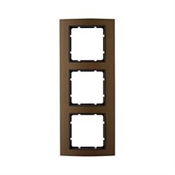 Рамкa 3-поста, Berker B.3, Материал: алюминий цвет: коричневый/антрацитовый 10133001 - фото 3745