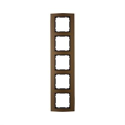 Рамкa 5-постов, Berker B.3, Материал: алюминий цвет: коричневый/антрацитовый 10153001 - фото 3747