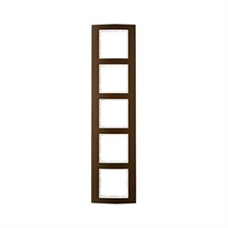 Рамкa 5-постов, Berker B.3, Материал: алюминий цвет: коричневый/полярная белизна 10153021 - фото 3752