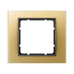 Рамкa 1-пост, Berker B.3, Материал: алюминий цвет: золотой/антрацитовый 10113016 - фото 3753