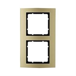 Рамкa 2-поста, Berker B.3, Материал: алюминий цвет: золотой/антрацитовый 10123016 - фото 3754