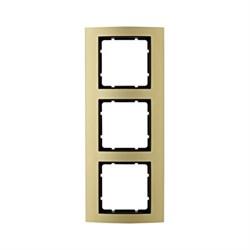 Рамкa 3-поста, Berker B.3, Материал: алюминий цвет: золотой/антрацитовый 10133016 - фото 3755