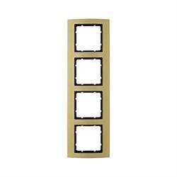 Рамкa 4-поста, Berker B.3, Материал: алюминий цвет: золотой/антрацитовый 10143016 - фото 3756