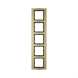 Рамкa 5-постов, Berker B.3, Материал: алюминий цвет: золотой/антрацитовый 10153016 - фото 3757