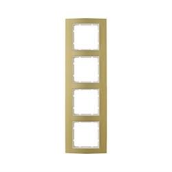 Рамкa 4-поста, Berker B.3, Материал: алюминий цвет: золотой/полярная белизна 10143046 - фото 3761