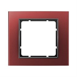 Рамкa 1-пост, Berker B.3, Материал: алюминий цвет: красный/антрацитовый 10113012 - фото 3763
