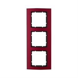 Рамкa 3-поста, Berker B.3, Материал: алюминий цвет: красный/антрацитовый 10133012 - фото 3765