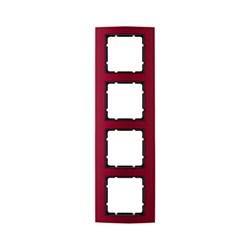 Рамкa 4-поста, Berker B.3, Материал: алюминий цвет: красный/антрацитовый 10143012 - фото 3766
