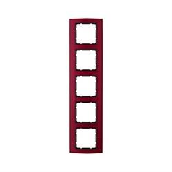 Рамкa 5-постов, Berker B.3, Материал: алюминий цвет: красный/антрацитовый 10153012 - фото 3767