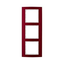 Рамкa 3-поста, Berker B.3, Материал: алюминий цвет: красный/полярная белизна 10133022 - фото 3770
