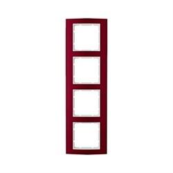 Рамкa 4-поста, Berker B.3, Материал: алюминий цвет: красный/полярная белизна 10143022 - фото 3771