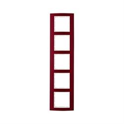 Рамкa 5-постов, Berker B.3, Материал: алюминий цвет: красный/полярная белизна 10153022 - фото 3772