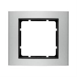 Рамкa 1-пост, Berker B.3 цвет: Алюминий/антрацитовый 10113004 - фото 3774