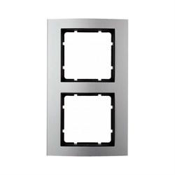 Рамкa 2-поста, Berker B.3 цвет: Алюминий/антрацитовый 10123004 - фото 3775