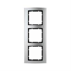 Рамкa 3-поста, Berker B.3 цвет: Алюминий/антрацитовый 10133004 - фото 3776