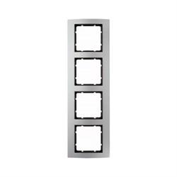Рамкa 4-поста, Berker B.3 цвет: Алюминий/антрацитовый 10143004 - фото 3777