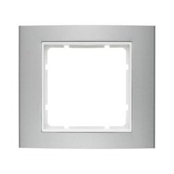 Рамкa 1-пост, Berker B.3 цвет: Алюминий/полярная белизна 10113904 - фото 3779