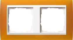 Рамка 2-пост для центральных вставок белого цвета, Gira Event Янтарный - фото 3875