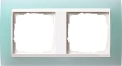 Рамка 2-пост для центральных вставок белого цвета, Gira Event Матовый салатовый - фото 3877