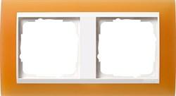 Рамка 2-пост для центральных вставок белого цвета, Gira Event Оранжевый - фото 3878