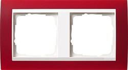 Рамка 2-пост для центральных вставок белого цвета, Gira Event Красный - фото 3879