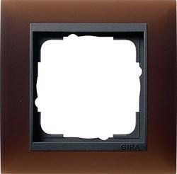 Рамка 1-пост для центральных вставок антацит, Gira Event Темно-коричневый - фото 3895