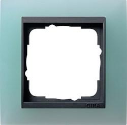 Рамка 1-пост для центральных вставок антацит, Gira Event Матовый салатовый - фото 3898