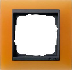 Рамка 1-пост для центральных вставок антацит, Gira Event Оранжевый - фото 3899