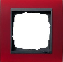 Рамка 1-пост для центральных вставок антацит, Gira Event Красный - фото 3900