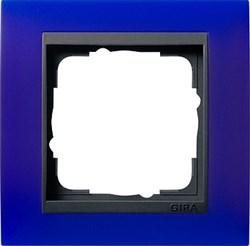 Рамка 1-пост для центральных вставок антацит, Gira Event Синий - фото 3901