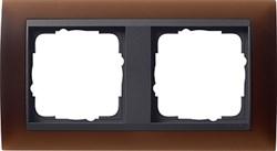 Рамка 2-поста для центральных вставок антацит, Gira Event Темно-коричневый - фото 3902