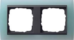 Рамка 2-поста для центральных вставок антацит, Gira Event Матовый салатовый - фото 3905