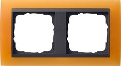 Рамка 2-поста для центральных вставок антацит, Gira Event Оранжевый - фото 3906