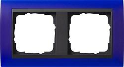 Рамка 2-поста для центральных вставок антацит, Gira Event Синий - фото 3908