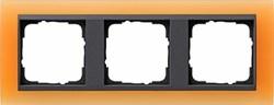 Рамка 3-поста для центральных вставок антацит, Gira Event Оранжевый - фото 3913